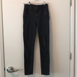 Paige Hoxton Skinny Black Shadow Jeans